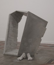 Vollzogener Unplan, 2012 Sichtbeton 144cm x 120cm x 55 cm